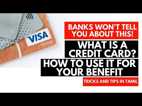 What Is Credit Card How To Use Credit Card In Tamil