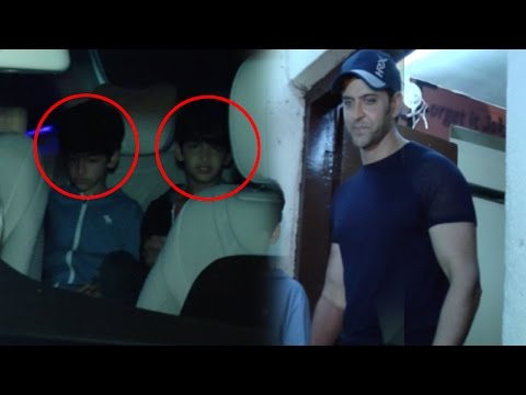 Spotted: Hrithik Roshan's Day Out With His Kids Hrehaan And Hridaan