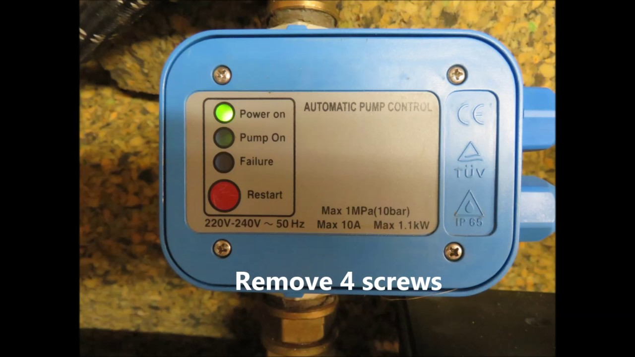 water pump control - presscontrol failure