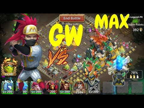 Guild Wars L Ronin Bombing VS Max Skin Buildings L Castle Clash