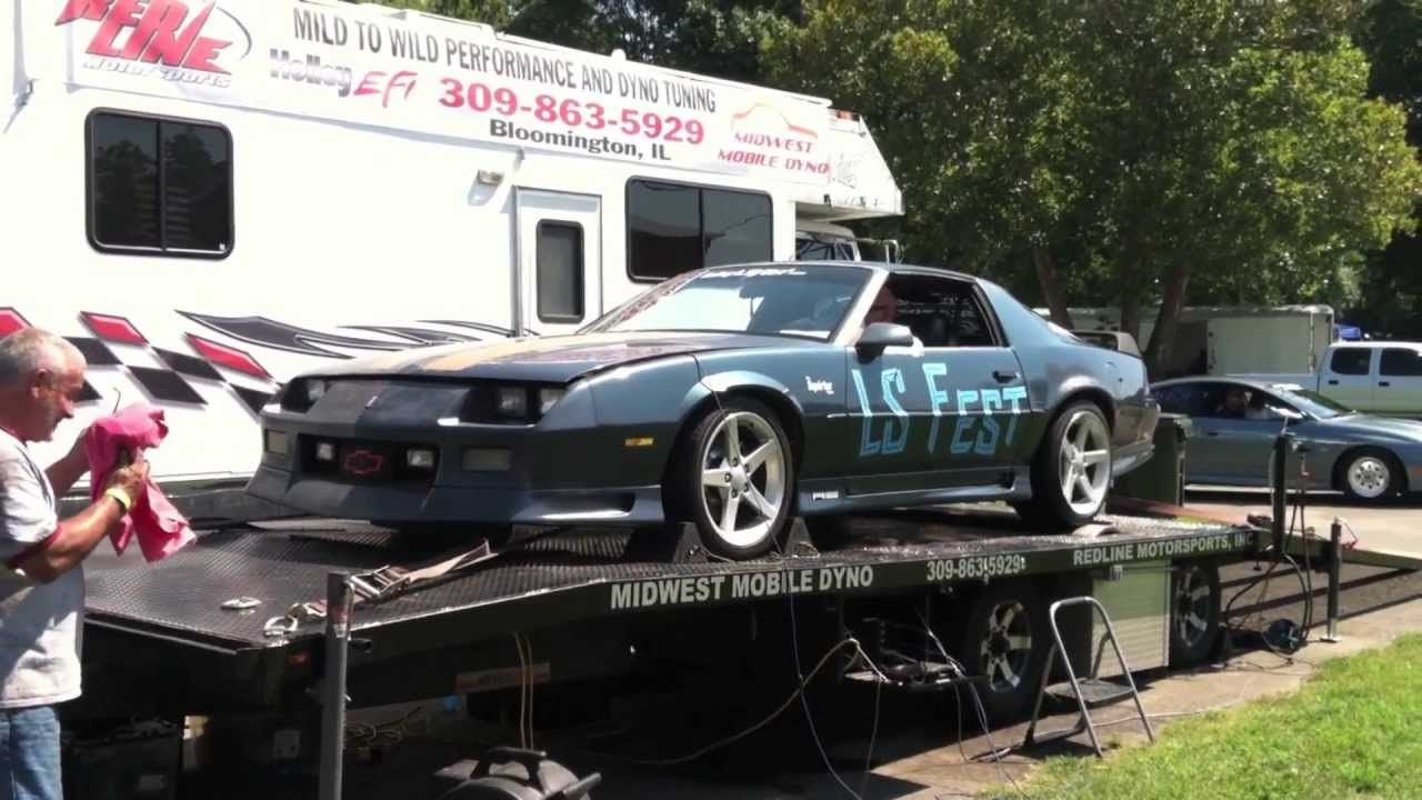 Ls1 92 camaro on the dyno at ls fest lsx 5 3 squirter project t56 6 speed third gen youtube