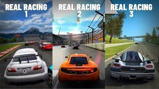 Real Racing 1 vs 2 vs 3 !! [ Graphics Evolution ]