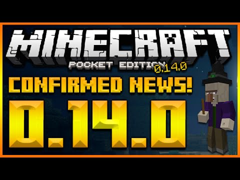 ★MINECRAFT POCKET EDITION 0.14.0 - CONFIRMED FEATURES NEW CREATIVE MENU, WITCHES (MCPE 0.14.0)★