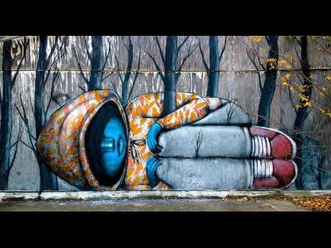 Amazing Street Artist Street Art Best Street Art In The World Youtube