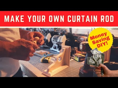 Make Your Own Curtain Rods I How to Make Wooden Curtain Rods
