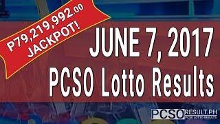 Lotto Result June 7, 2017 (6/55, 6/45, 4D, Swertres & EZ2)