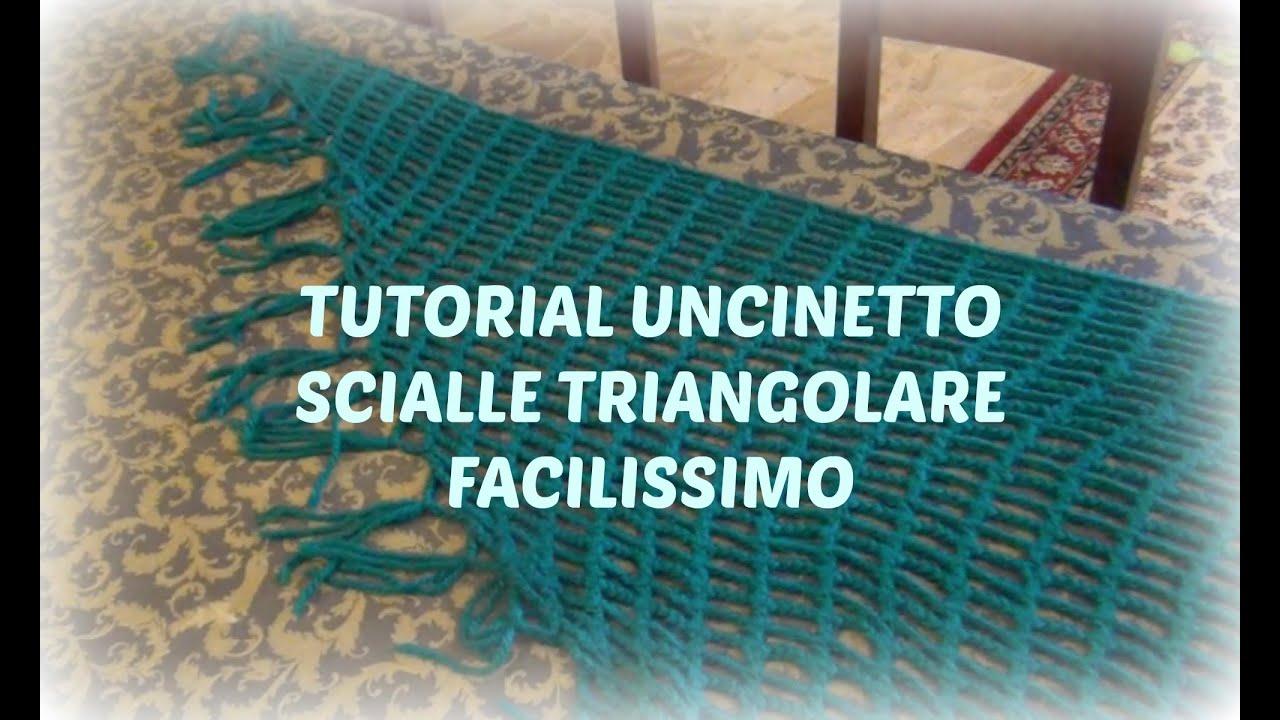 Tutorial Uncinetto Scialle Triangolare Facilissimo Youtube