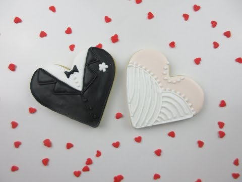 How To Make WEDDING Cookies! (Bride & Groom)