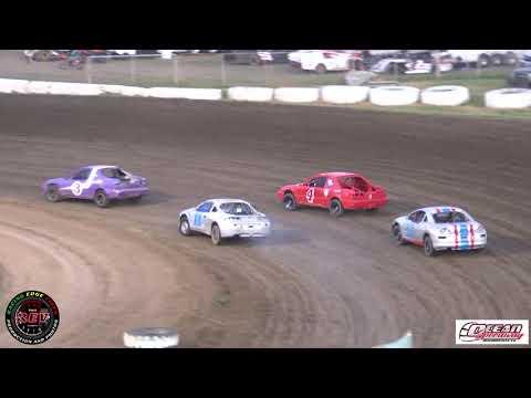Ocean Speedway June 21st, 2019 32nd Pombo/ Sargent Classic 4 Banger Main Highlights