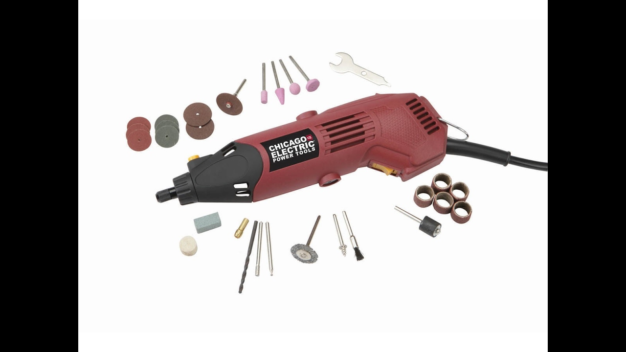 Unboxing Chicago Electric 60713 Rotary Tool Dremel Youtube