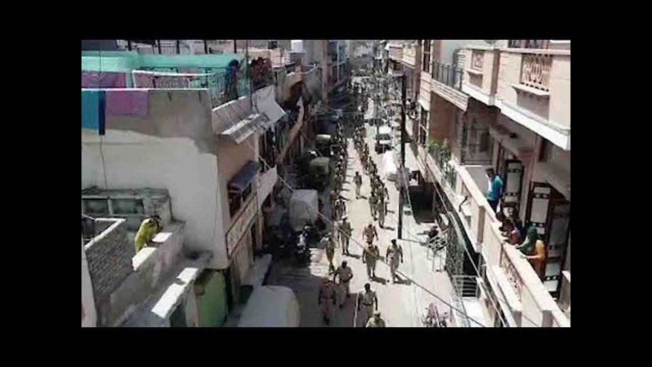 जोधपुर : पुलिस रूट मार्च पर लोगों ने बरसाए फूल