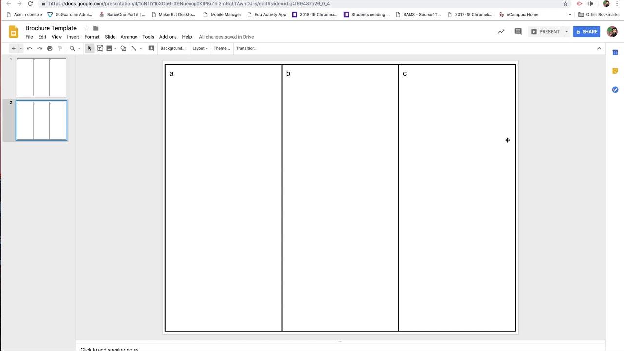 Making a Brochure in Google Slides
