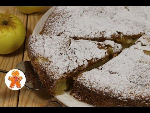 Яблочный пирог (шарлотка) на сметане