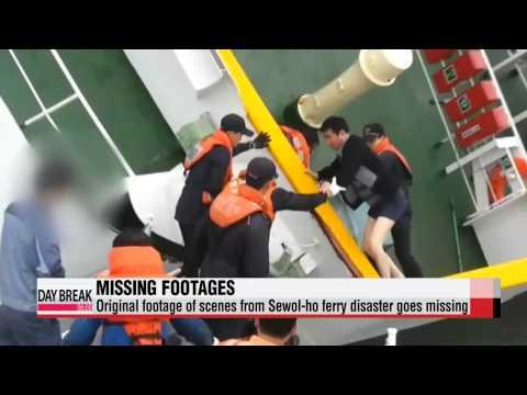 Original footage of Sewol-ho ferry sinking goes missing