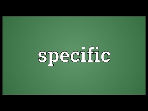Specific Meaning