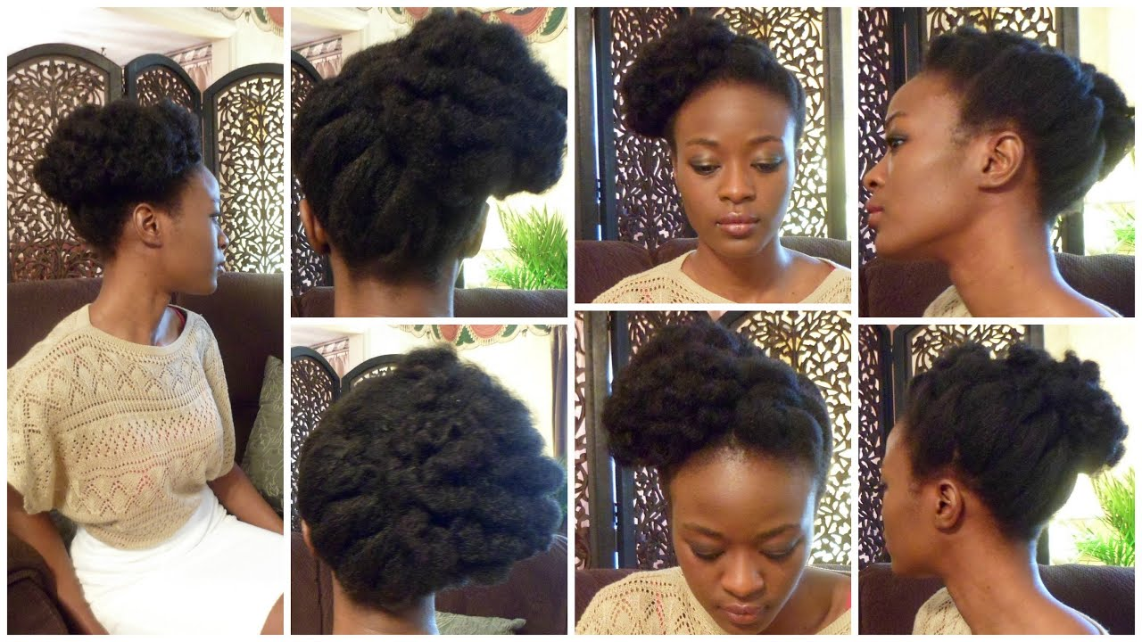 Bantu Knot Updo In Natural Hair And Giveaway Youtube