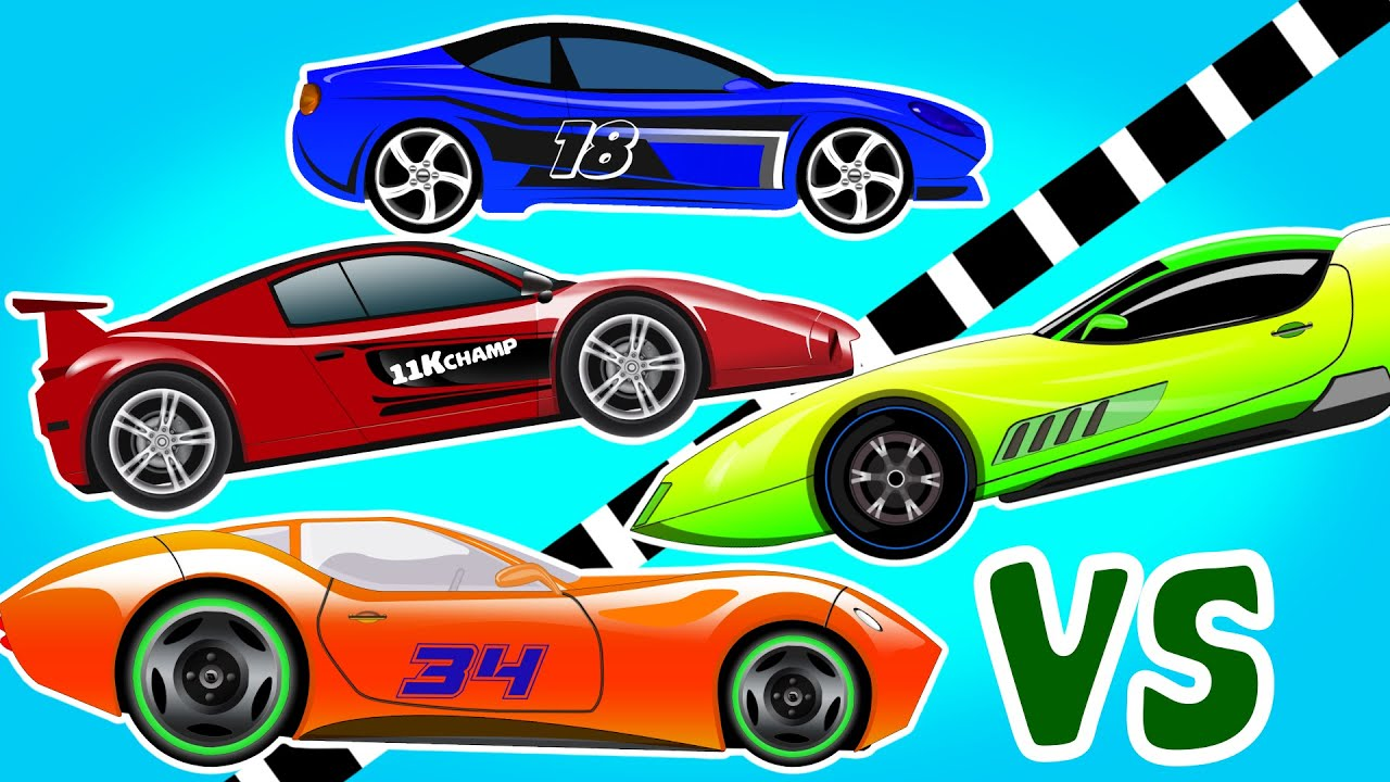 Sports Car Racing Cars Cars For Kids Videos For Children Youtube