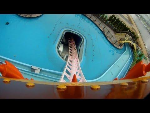 Diving Coaster Vanish Roller Coaster POV Cosmoworld Yokohama Japan 1080p HD