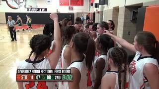 D2 South Playoffs: Stoughton High Girls Basketball vs Dighton-Rehoboth (2-27-18)