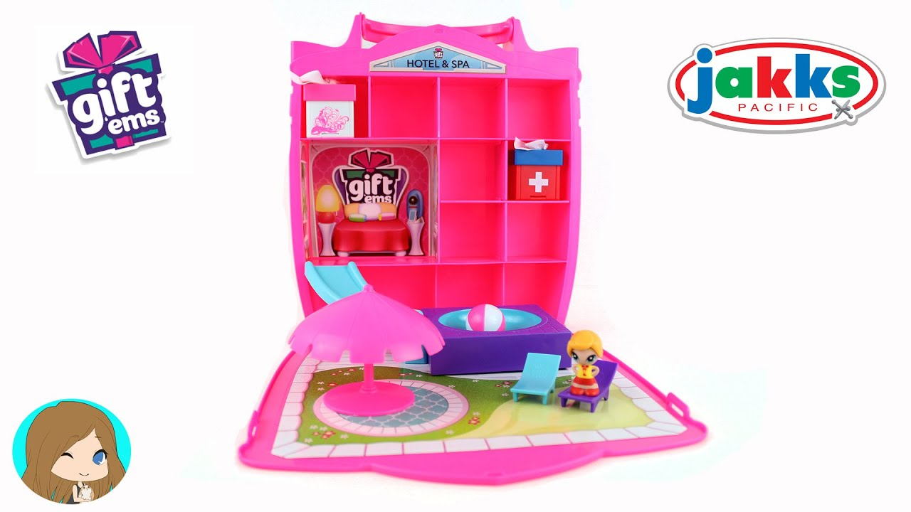 Gift Ems Surprise Present Opening & Hotel & Spa Playset Unboxing ...