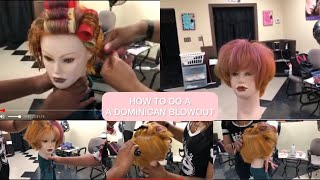 HOW TO DO A DOMINICAN BLOWOUT W.Rollers (Salon Tutorial With New Stylist)