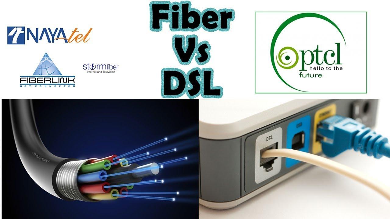 Fiber Vs Dsl Vs Cable Nayatel Stormfiber Ptcl Fiber Etc