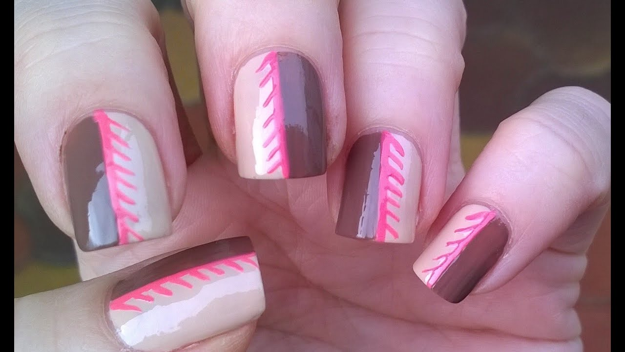 Beige brown pink nails cute nail art designs for beginners beige brown pink nails cute nail art designs for beginners youtube prinsesfo Image collections