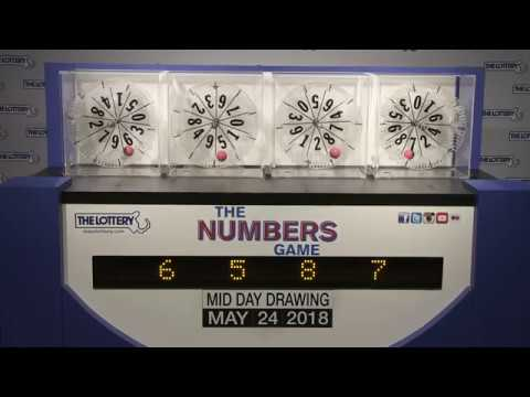 Midday Numbers Game Drawing: Thursday, May 24, 2018
