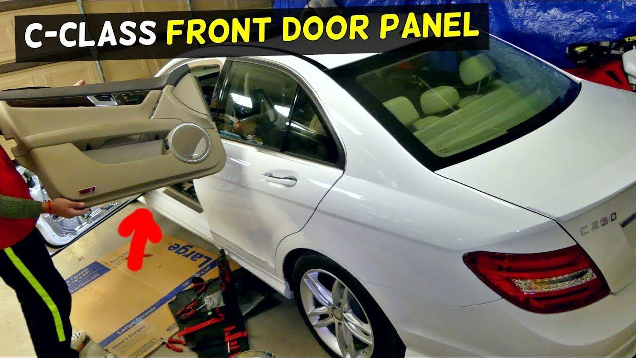 Mercedes W204 C250 C300 Front Door Panel Removal C200 C220 C320 C180 C350 Youtube