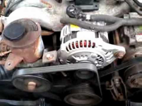 3K In Miles >> Subaru Legacy - alternator bearing failure - YouTube
