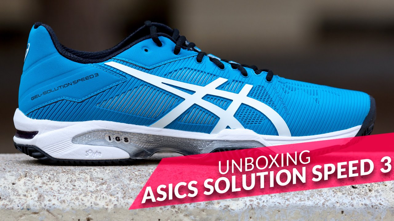Unboxing zapatillas Asics Gel Solution Speed 3 Azules 2016