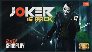 JOKER IS BACK 😆 | PUBG MOBILE LIVE | HYDRA JOKER