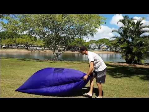 How To: Inflatable hangout Air Sleep Camping Bed Beach ...
