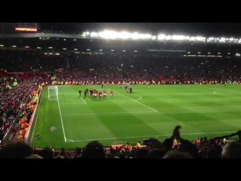 Manchester United vs Aston Villa full time celebrations- we are the champions! 22/4/13