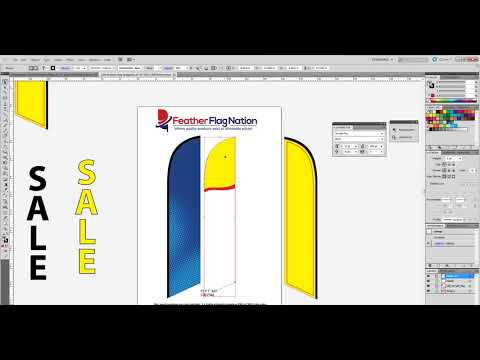 How to Mask a Pattern to a Feather Flag Template in Adobe Illustrator - Intermediate Guide