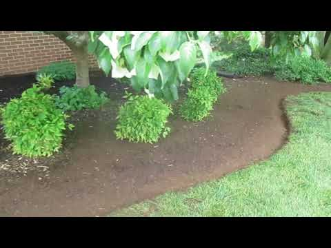 Landscape Bed Edging Mulching Paradise Manor Hagerstown MD Washington County MD