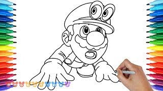 How to Draw Super Mario Odyssey #16 | Drawing Coloring Pages for Kids