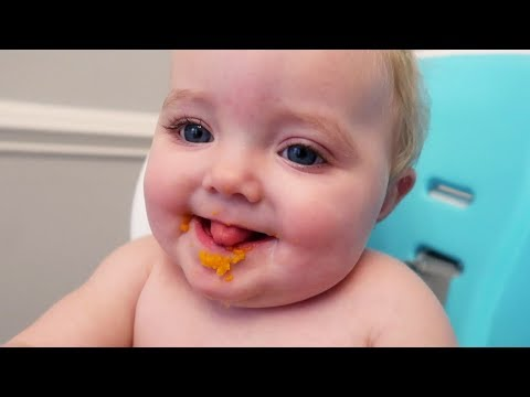 OUR BABY IS EATING REAL FOOD!