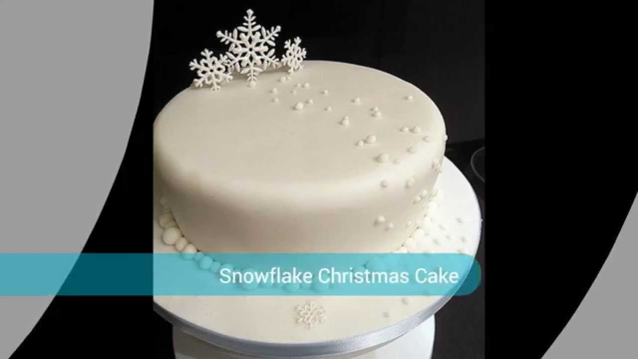 Snow Christmas Cake - YouTube