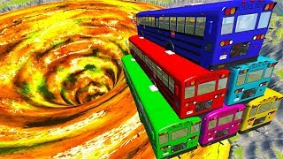 BeamNG drive - School Bus Crashes & Jumps ( School Bus Tower Crashes )