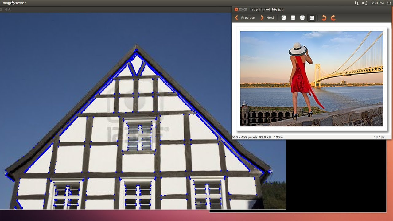 OpenCV Programming with Python on Linux Ubuntu Tutorial-12 Harris Corner  Detector
