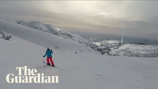 Missile interception caught on snowboarder