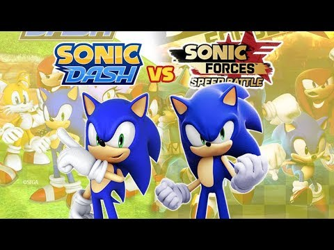 Sonic Dash vs Sonic Froces Speed Battle: All Clones
