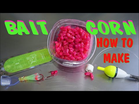 How I Make Cured Bait Corn, Home Made Fire Corn For Trout, Catfish Or Carp.
