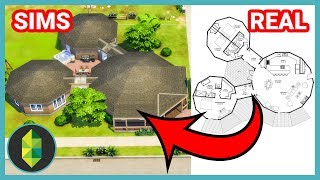 Odd CIRCLE Floor Plan CHALLENGE 90s/2000s Style (Sims 4 House Build)