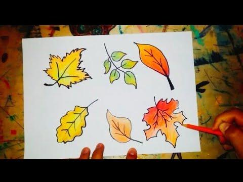 Sonbahar Yaprakları Nasıl çizilir How To Draw Autumn Leaves Youtube