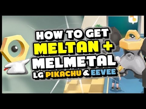 How to get MELTAN and MELMETAL - Pokemon Lets Go Pikachu and Eevee + Pokemon Go!