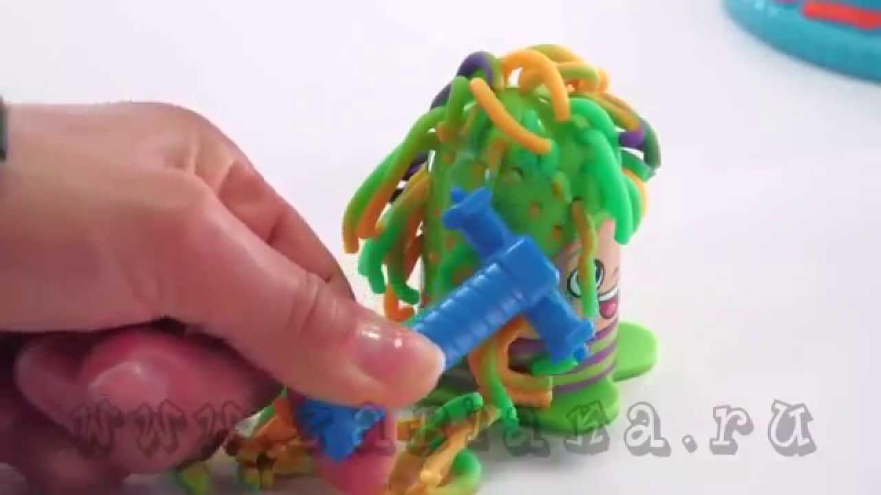 Игровой набор Сумасшедшие прически Play Doh B1155 - YouTube