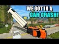 OUR TRUCK & TRAILER IS CAUGHT IN THE POWERLINES... CAR CRASH | FARMING SIMULATOR 2017