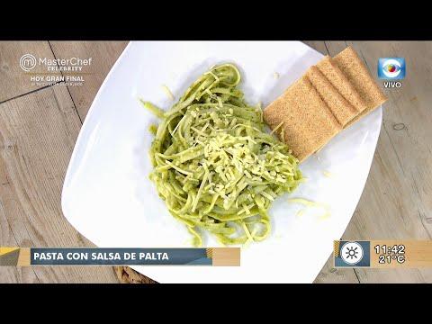 Pasta con salsa de palta